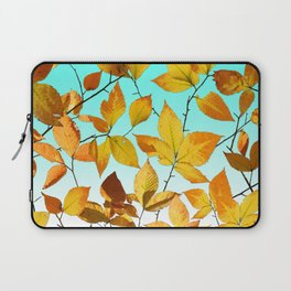 Autumn Leaves Azure Sky Laptop Sleeve