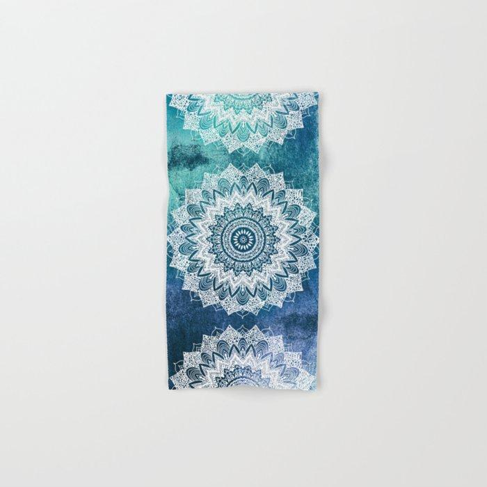 BOHOCHIC MANDALAS IN BLUE Hand & Bath Towel