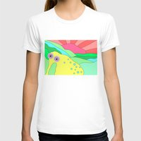 plain T-shirts featuring Peaceful Stranger Happy Plain by PENARULIT