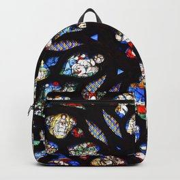 Stained glass sainte chapelle gothic Backpack