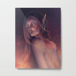 Fire & Gold Metal Print
