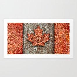 Iron Maple Leaf. Art Print