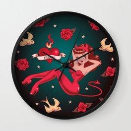 Devilette Wall Clock