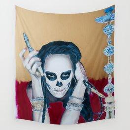 Catrina Sugar Skull, no.2 Wall Tapestry