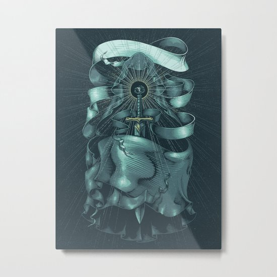 Hooded Eclipse Metal Print