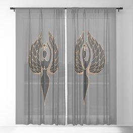 Woman Rising Sheer Curtain