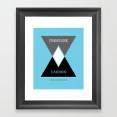 Venn Diamondgram Framed Art Print