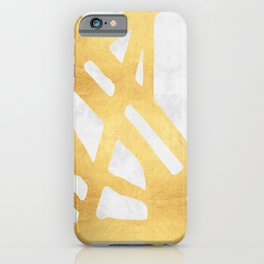 Modern pattern with gold I iPhone Case
