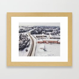 Winter view from the sky Framed Art Print