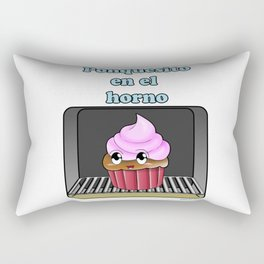 Ponquesito en el horno/ Cupcake in the oven Rectangular Pillow