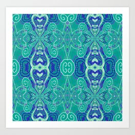 Boujee Boho Collection Green Purity Art Print