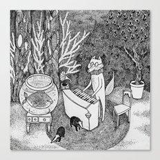 Fox Piano Canvas Print