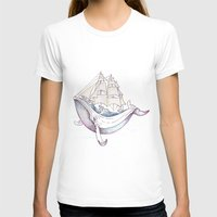 the whale T-shirts featuring whale by Ana Grigolia