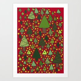 Small Trees Art Print
