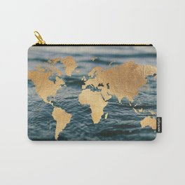 Gold Map in Water Carry-All Pouch