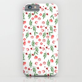 Flowers and birds iPhone Case
