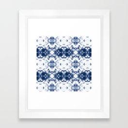 Shibori Tie Dye 3 Indigo Blue Framed Art Print