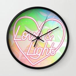 Love & Light - Rainbow Wall Clock