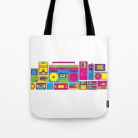 90s Tote Bags featuring 90s by sknny