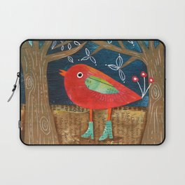 Red Bird in Galoshes Laptop Sleeve
