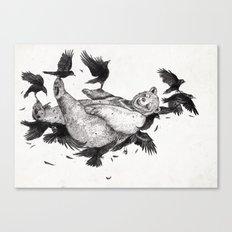 In Dreams Graphite Canvas Print