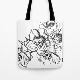 Flowers Line Drawing Tote Bag