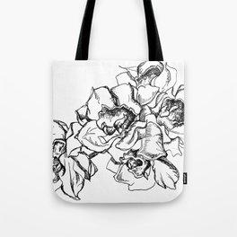 Flowers Line Drawing Tote Bag