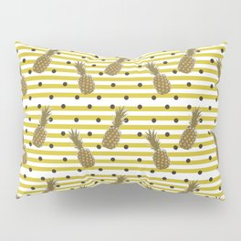 Fun with Pineapples -dots stripes Pillow Sham