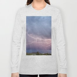 March Lightning Over Cave Creek Arizona Long Sleeve T-shirt