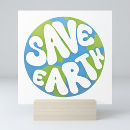 Save Earth Ecology Mini Art Print
