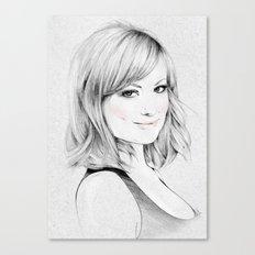 Olivia Wilde portrait Canvas Print