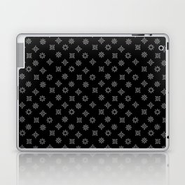 Black and White Floral Flowers Laptop & iPad Skin