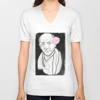 picasso V-neck T-shirts featuring Picasso by DonCarlos