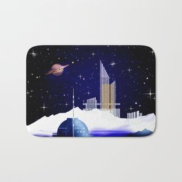 Extra-solar ice moon. Bath Mat