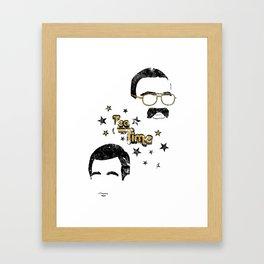 Liam & Jerry Throwback Framed Art Print