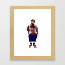 happy augustus Framed Art Print