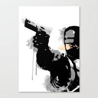 robocop Canvas Prints featuring RoboCop by Molnár Roland