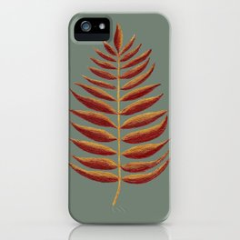 Gold and Copper Palm Leaf iPhone Case
