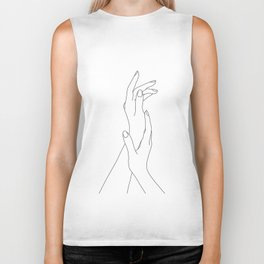 Hands line drawing illustration - Dia Biker Tank