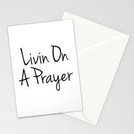 Livin On A Prayer Stationery Cards