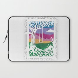 Sunset Swing Papercut Laptop Sleeve