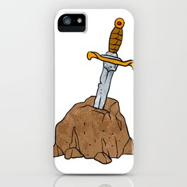 cartoon sword in stone iPhone Case