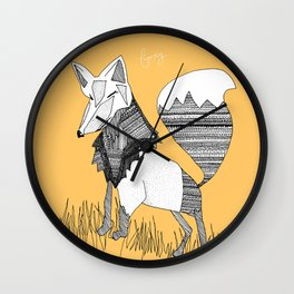 Feeling Foxy Wall Clock