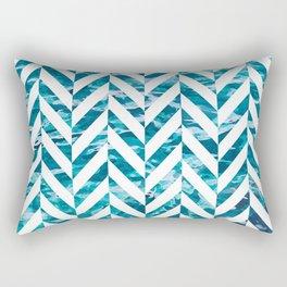 Watercolor Herringbone Rectangular Pillow