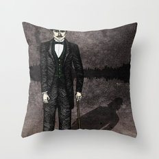 Jekyll and Hyde Throw Pillow