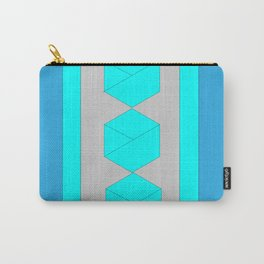 Multicolored Cubes and Stripes Carry-All Pouch