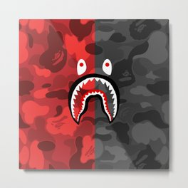 BAPE X SHARK 4 Metal Print