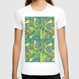 Bohemian Green Tropical Jungle Snakes T-shirt