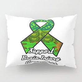 Support Traumatic Brain Injury Awareness Ribbon Pillow Sham