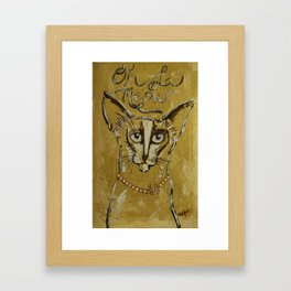 Oh Le Meow, Kitty Couture Painting Framed Art Print